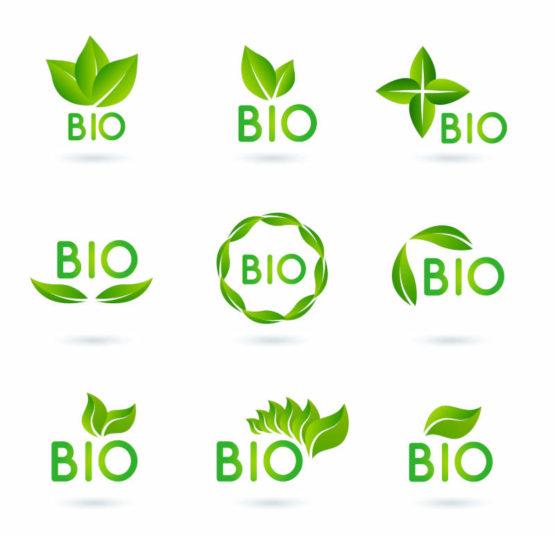 Des logos bio dessinés par Freepik